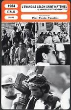 FICHE CINEMA : L'EVANGILE SELON SAINT MATTHIEU - Pier paolo Pasolini 1964