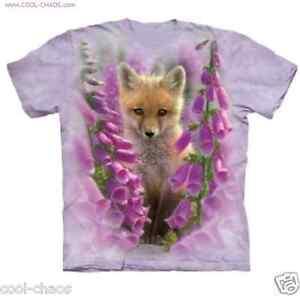 Purple Gift T Fox Garden gardening birthday Pink shirt Wildflower Foxgloves XxCRZnw