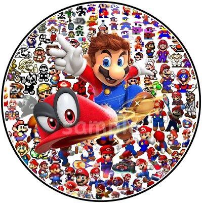 Super Mario eßbar Tortenaufleger Muffin Party Deko Tortenbild Switch Geburtstag