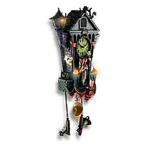 image is loading nightmare before christmas halloween town cuckoo clock new - Nightmare Before Christmas Clock