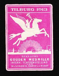 VINTAGE CINDERELLA Tilburg Trade Art Expo Mercury Flying Horse Tape Remnant I