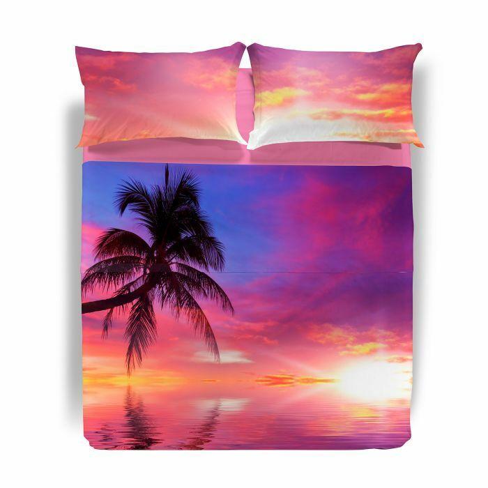 Completo lenzuola copriletto matrimoniale 2 piazze Caleffi mod.  Dream Place