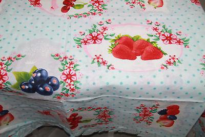 Home & Garden Tovaglia Da Tavola 12posti Tessuto Panama Cotone Preziosa Frutta Balza Azzurro Clear And Distinctive Other Home & Garden