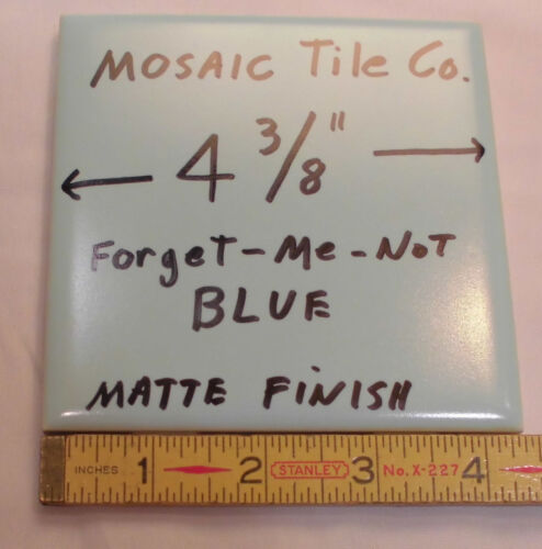 "/""NOS/"" 6 pcs...Light Blue...Vintage Ceramic Tiles...made by Mosaic Tile Co"