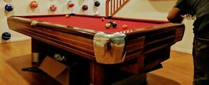 Brunswick 9' Anniversary Pool Table w/Ball Rtrn-Dlvry incl some states