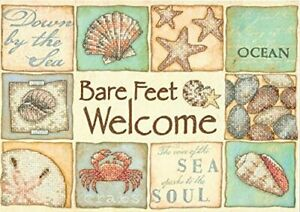 Dimensions-Needlecrafts-Bare-Feet-Welcome-Stamped-Cross-Stitch