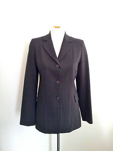 Superbly-Tailoured-Jigsaw-size-8-grey-lined-jacket-in-excellent-condition