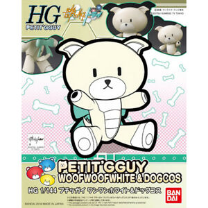 BANDAI [HG] 1/144 PETIT'GGUY WOOFWOOFWHITE & DOGCOS