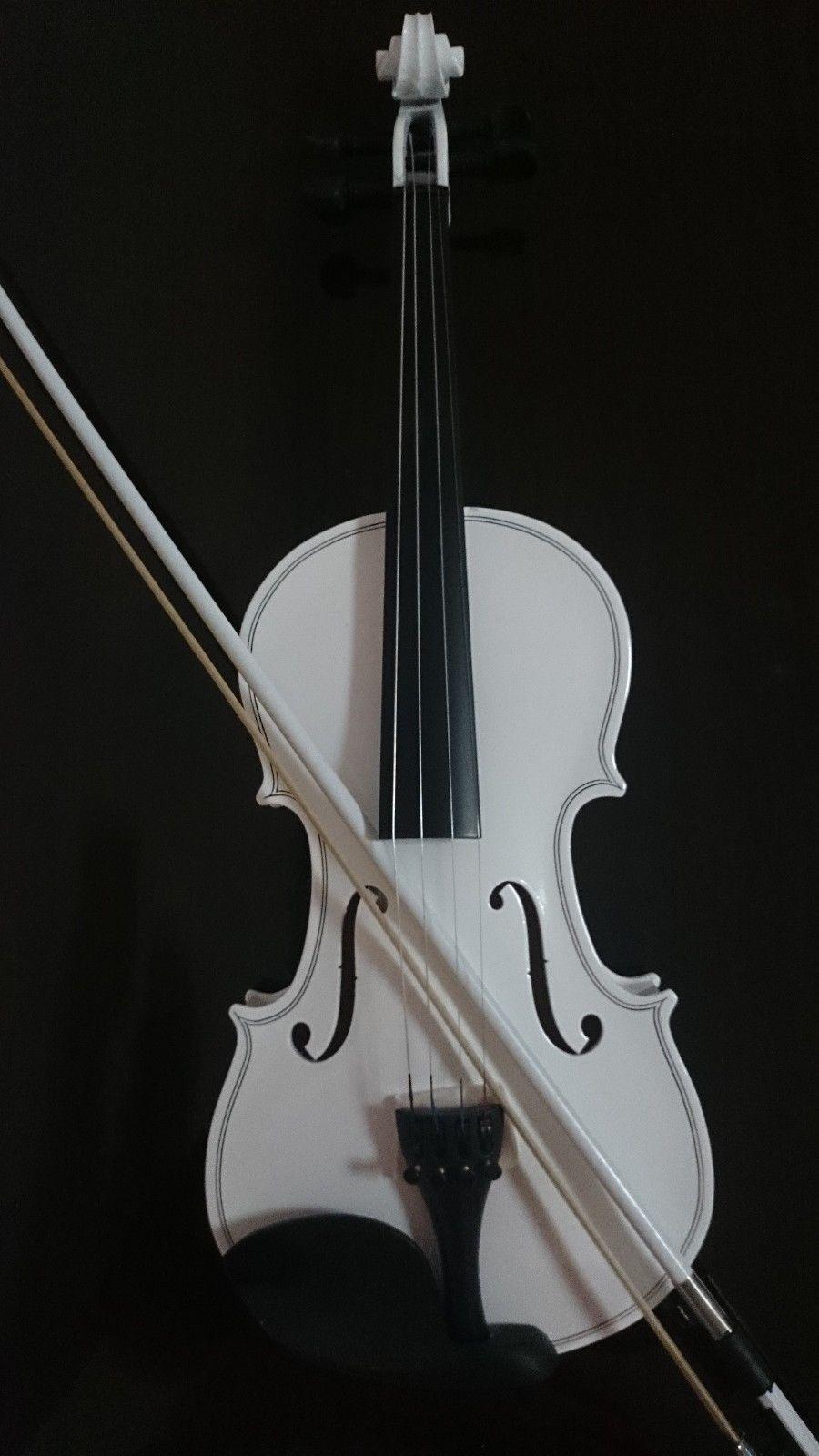 Estudiante acústicas violín lleno 4 4 4 4 arce pícea con estuche bucle resina 23f368