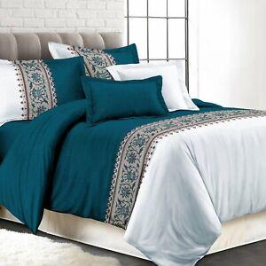 Shatex Comforter King Size Bedding Sets 3 Pieces Comforter Set  Polyester Teal