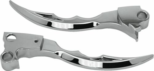 Pro One Chrome Pro Blade Handlebar Levers 96-06 Harley Dyna Touring Softail XL