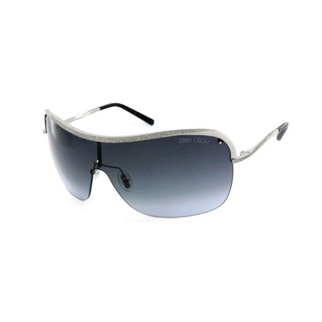 Jimmy Choo Damen Shield Sonnenbrille MarisiaS 010HD Silber Grau verlauf + Etui