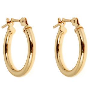 14K-Yellow-or-White-Gold-Tubular-Shiny-Round-Hoops-Hoop-Earrings-12-14-16-mm