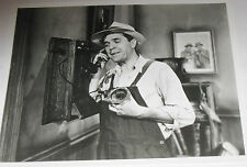 Vintage 8X10 Glossy Photo of a 1930's Era Farmer - Western Electric Wall phone!!