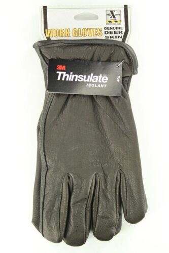 MEN/'S INSULATED Leather GLOVES Deerskin New HD Xtreme 3M Thinsulate Lined
