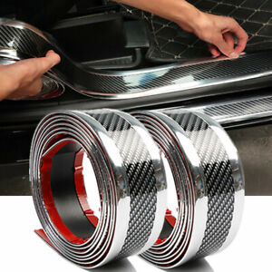 Details about Parts Accessories Carbon Fiber Vinyl Car Door Sill Scuff Plate Sticker Protector