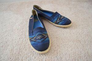 Details about Vans Tribal Print Basket Weave Sole Slip On Shoes
