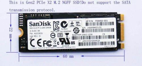 A110 SD6PP4M-256G PCIE X2 256GB M.2 NGFF SSD for HP ZBOOK 15 G2 HP ZBOOK 17 G2