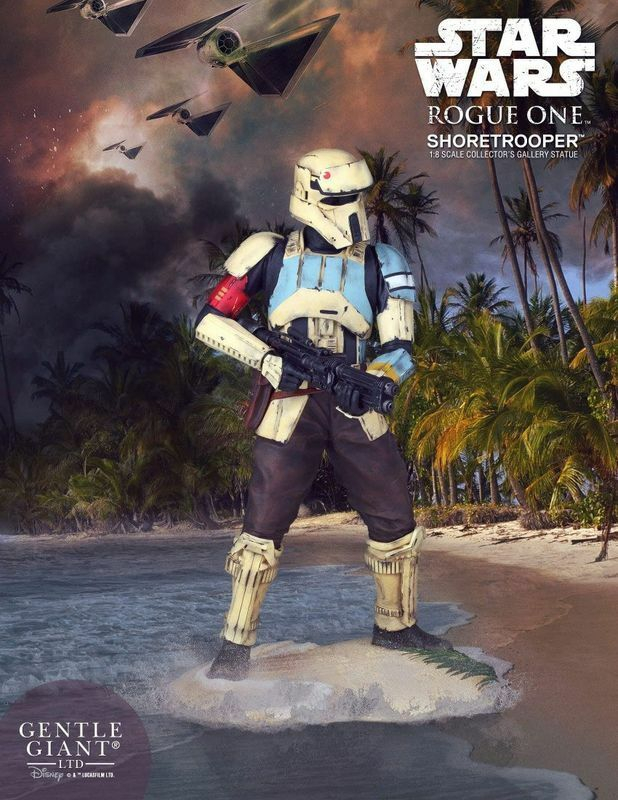 GENTLE GIANT STAR WARS ROGUE ONE STATUE COLLECTORS GALLERY SHORETROOPER 1 8 22CM