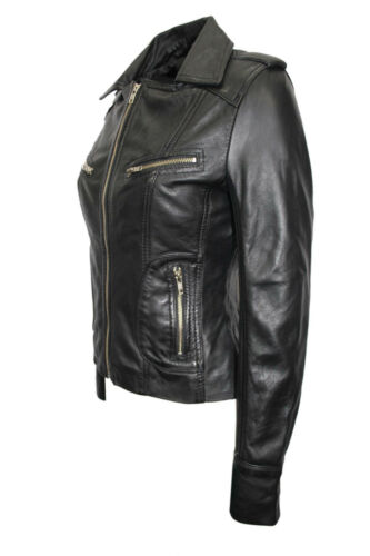 nera in Ladies Racer New Biker pelle Designer Casual Mode Style Giacca 8qxpB
