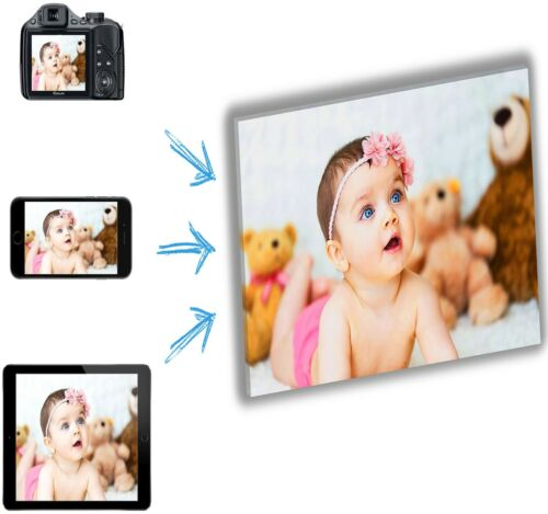 FRAMED DEEP FRAME  MATAGA . YOUR PHOTO PICTURE ON CANVAS PRINT