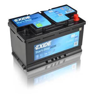 exide agm ek800 80ah 12v autobatterie einbaufertig ebay. Black Bedroom Furniture Sets. Home Design Ideas