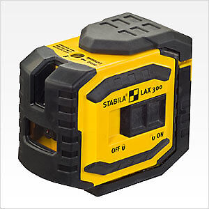 Stabila 03185 LAX300G Grün Beam Cross Line Plus Plumb Dots Laser Level