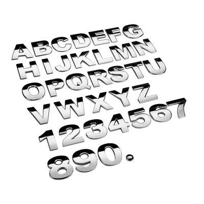 3D Metal U Letter Shaped Alphabet Sticker Car Auto Emblem Badge Decal Black