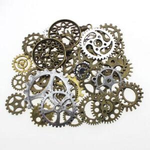 50gm-o-100gm-metal-bronzo-argento-oro-Steampunk-ingranaggi-amp-Gears-Charm-MIX-TS88