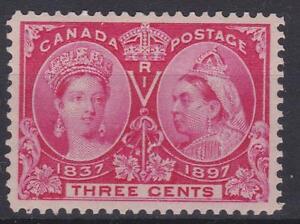 Canada-1897-53-Diamond-Jubilee-Issue-Queen-Victoria-MH-VF