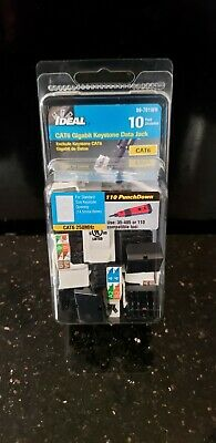 Ideal 89-760WH CAT6 250MHz 8P8C Keystone Jack 5//Pack White