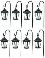 (8) Ea Four Seasons Tv29960bk Black Solar Candle Lantern Pathway Lights