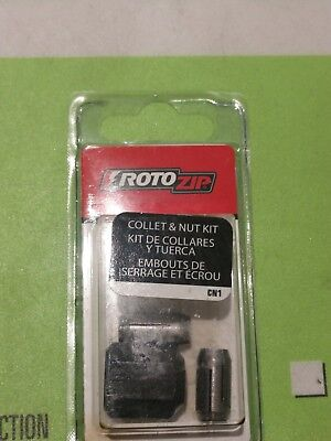 NEW Roto Zip CN1 Replacement Collet and Nut Kit FOR ROTOZIP TOOLS 7720808