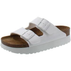 Papillio-Womens-Arizona-White-Footbed-Sandals-Shoes-37-Narrow-AA-N-BHFO-1792