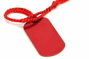 Personalised-Small-Red-Dog-Tag-Bookmark-Gift-Box-Choice-of-Tassel-Engraved