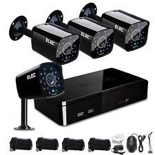 ELEC 4CH 1500TVL 960H HDMI Video Record P2P DVR CCTV Home Security Camera System