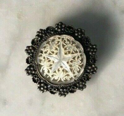 Vintage brooch mother-of-pearl art pearl