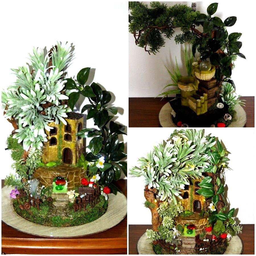Bonsai Kunstpflanze Kunstbaum im Topf Office Büro Dekoration Handarbeit BO1