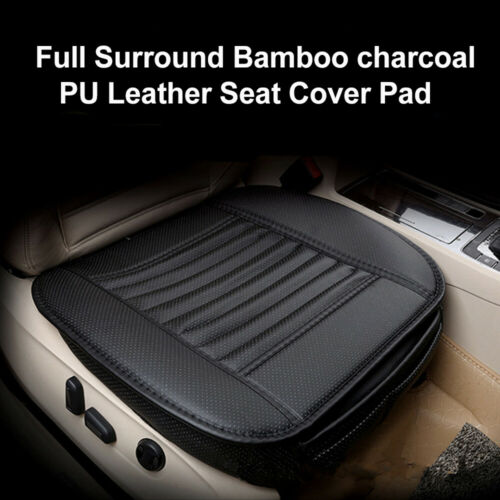 Black Breathable PU Leather Bamboo Car Seat Cover Pad Mat for Auto Chair Cushion