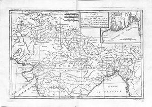 Carte De Linde Avec Le Gange.Antique Maps Carte De La Partie Superieure De L Inde En Deca Du