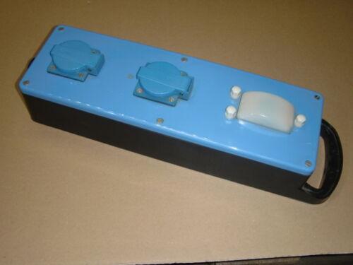 Steckdosenverteiler Block 2x Schuko mit Dämmerungsschalter 16A//230V IP44 tragbar