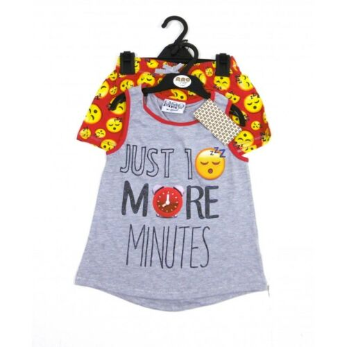 NEW Girls BHS Emoji /'10 More Minutes!/' Pyjama Set 7-8,9-10,11-12,13-14,15-16 Yrs