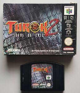 Turok 2-Seeds of Evil para el n64 con embalaje, sin instrucciones, PAL