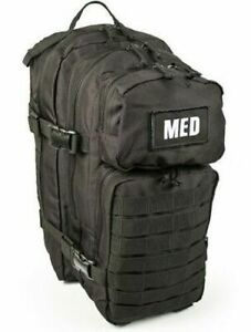 ELITE FIRST AID Tactical Trauma Kit #3 STOCKED w/ Backpack Medic Survival BLACK