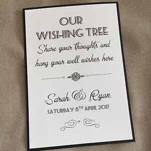 Image Is Loading Handmade Personalised Vintage Style Wedding Wishing Wish Tree
