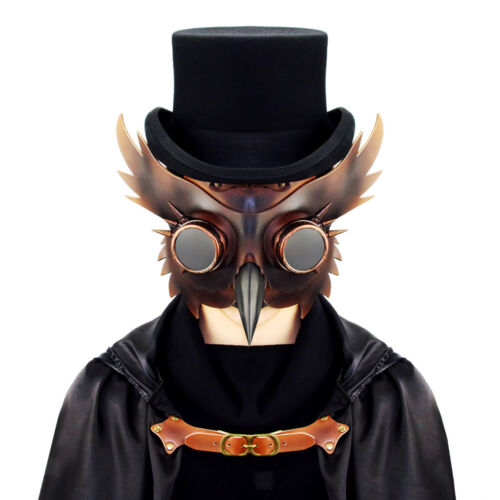 Vintage Plague Doctor Bird Mask Long Beak Goggle Gas Mask Steampunk Cosplay