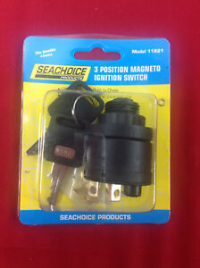 OUTBOARD MAGNETO IGNITION SWITCH 3 POSITION SEACHOICE 11821