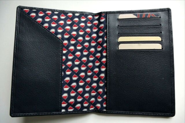 efb43d4a33 Genuine GANT Dark Navy Leather PASSPORT & CREDIT CARD WALLET *NEW IN ...