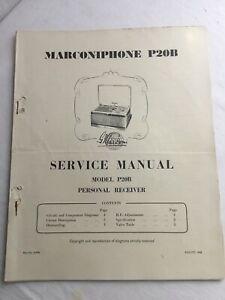 Marconiphone-P20B-Recepteur-Radio-Service-Manual-amp-liste-de-pieces-1948