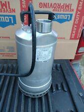 Goulds Pump 1dw51d4ea Submersible Dewatering Pump 34 Hp Stainless Steel